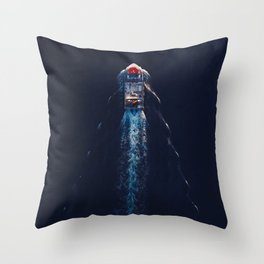 Harbour Life From Above | Aerial Photography Throw Pillow