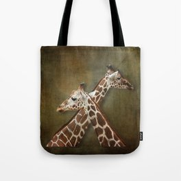 Giraffes Passing in the Night Tote Bag