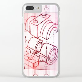Technical Sketch Clear iPhone Case