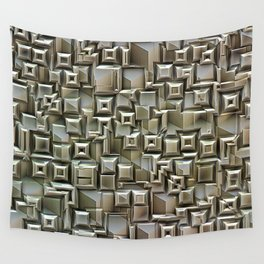 Textural 3D Metallic Structure Wall Tapestry