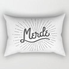 MERDE - BLANC Rectangular Pillow