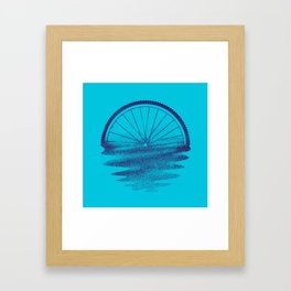 Blue Sunset Mystery Framed Art Print