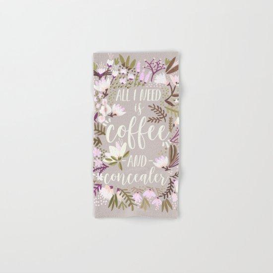 Coffee & Concealer – Spring Palette Hand & Bath Towel