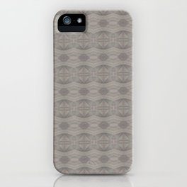 Elegant Gray Geometric Southwestern Pattern - Luxury iPhone Case