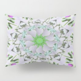 Purple Wildflower Kaleidoscope Art 7 Pillow Sham
