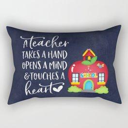 A teacher takes a hand Rectangular Pillow