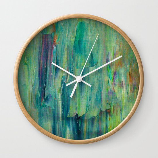 Abstract Painting 30 Wall Clock
