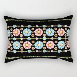 Daisy Boho Chic Rectangular Pillow