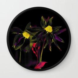 Black rudbeckia Wall Clock