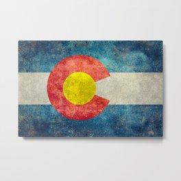 Grungy Colorado Flag Metal Print