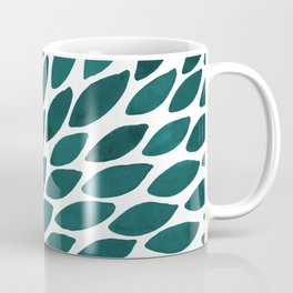 Watercolor brush strokes burst - teal Coffee Mug