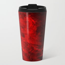 Red Abstract Paint Travel Mug