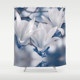 Magnolia blue 0200 Shower Curtain