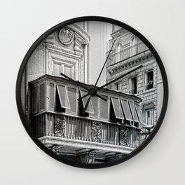 Roman city balcony Wall Clock