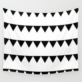 TRIANGLE BANNERS (Black) Wall Tapestry