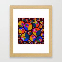 Bubble pink & blue 07 Framed Art Print