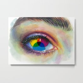 Eye of an artist Metal Print