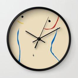 Line in nude Wall Clock