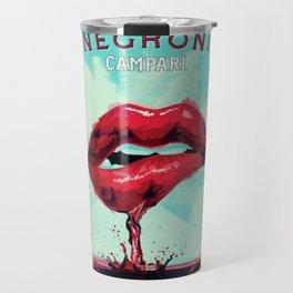 Vintage Cordial Campari Aperitif 'Bitter Beats Boring' Negroni Advertisement Poster Travel Mug