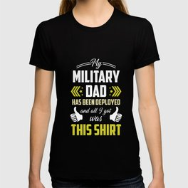 Military Child Month Purple Up Mom Deploy print T-shirt