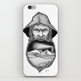 The sea in my beard iPhone Skin