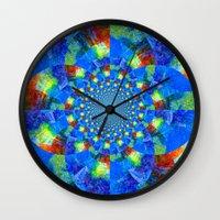 kaleidoscope Wall Clocks featuring Kaleidoscope  by haroulita