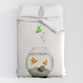 Gold Fish Outsider Comforters