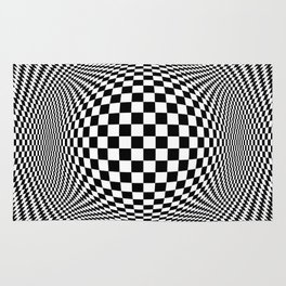 Optical Illusion Checkers Chequeres  Rug