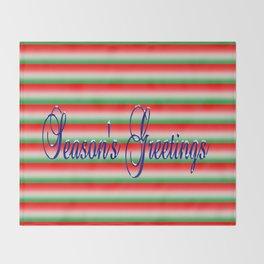 Season's Greetings Throw Blanket