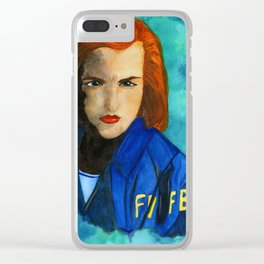 Dana Scully FBI Clear iPhone Case