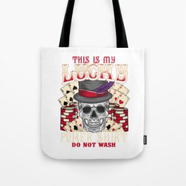 This Is My Lucky Poker graphic Do Not Wash Casino Gambling Tote Bag