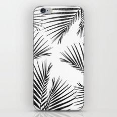 Golden cane palm leaf - black onyx iPhone & iPod Skin