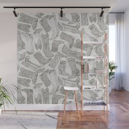 country girl boots mono Wall Mural