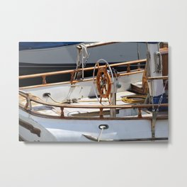 Boat's Wheel Metal Print
