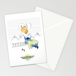 LOVE IN OUR OPINION - WHAT DIFFERENCE DOES IT MAKE? Stationery Cards