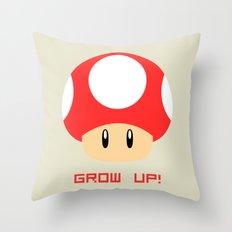 Grow Up! (Super Mario) Throw Pillow