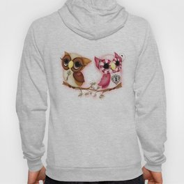 So In Love Hooties - Owl iPhone Case Hoody