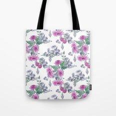 Watercolor floral pattern . 11 Tote Bag