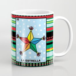 La Estrella Star Loteria Card Mexican Bingo 12 oz Coffee Mug