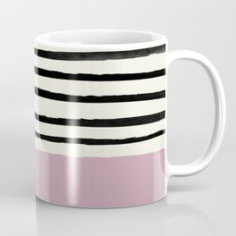 Dusty Rose & Stripes Coffee Mug