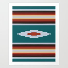 Baja Blanket Art Print