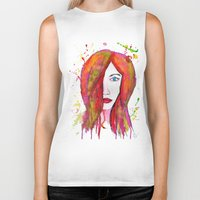 valentina Biker Tanks featuring Valentina by Laurie Art Gallery