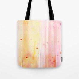 Pink Orange Rain Watercolor Texture Splatters Tote Bag