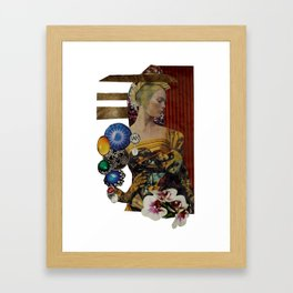 Jewelled Woman Collage Framed Art Print