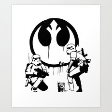Banksy Troopers Art Print