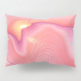 Pink Sunset Agate Pillow Sham