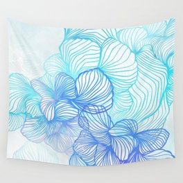 Blue Flora Wall Tapestry