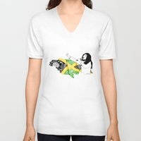 jamaica V-neck T-shirts featuring Jamaica -  Freedom Time by Art & Be