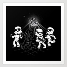 Dark Side Disco Dancing Art Print