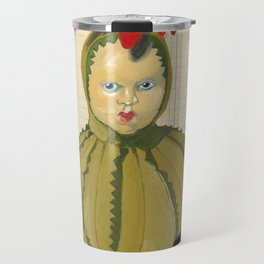 Creepiest Yet Most Wonderful Pincushion Ever in Gouache Travel Mug
